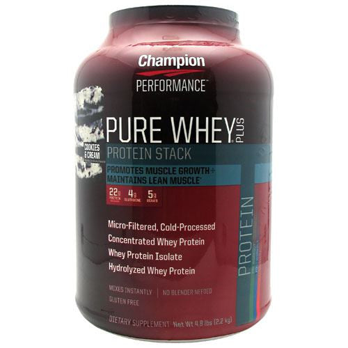Champion Nutrition Pure Whey Plus - Cookies & Cream - 4.8 lb - 027692114402
