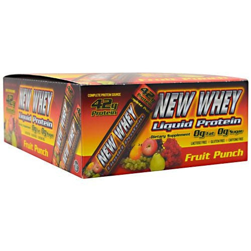 New Whey Nutrition New Whey Liquid Protein - Fruit Punch - 12 ea - 675941001548