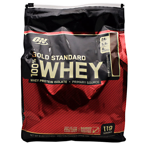 Optimum Nutrition Gold Standard 100% Whey - Double Rich Chocolate - 8 lb - 748927050745