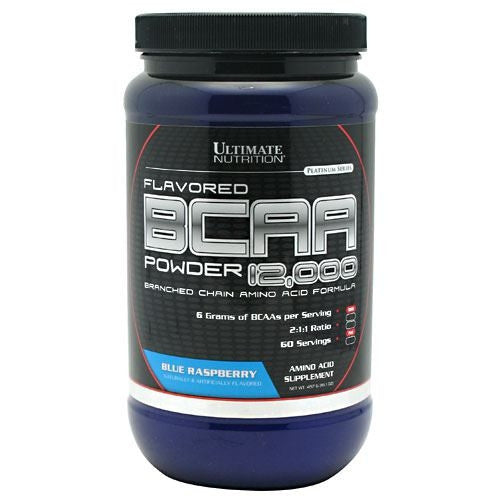 Ultimate Nutrition BCAA 12,000 - Blue Raspberry - 457 g - 099071004406