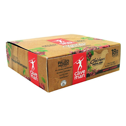 Caveman Foods Chicken Primal Bar - Sweet Cherry - 12 Bars - 853385003865