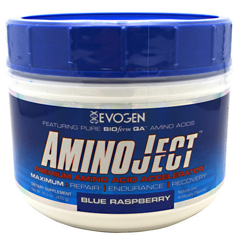 Evogen AminoJect - Blue Raspberry - 30 Servings - 685450688178