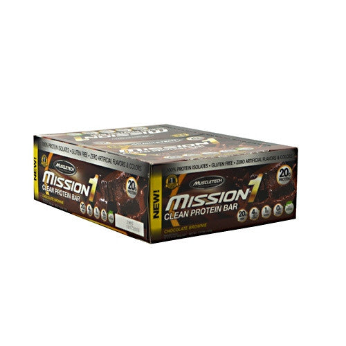 MuscleTech Mission1 - Chocolate Brownie - 12 Bars - 631656560497