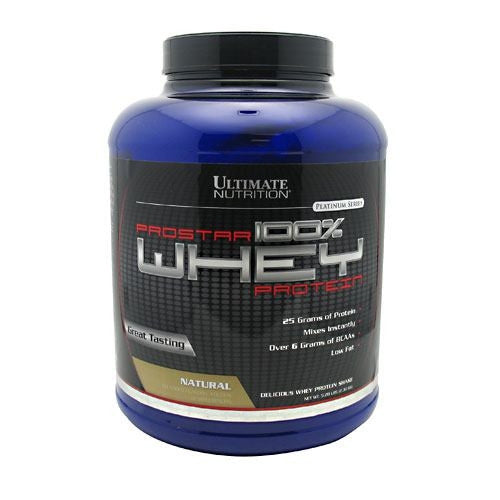 Ultimate Nutrition ProStar Whey Protein - Natural - 5 lb - 099071001429