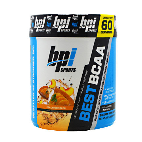 BPI Best BCAA - Peach Cobbler - 60 Servings - 811213024475
