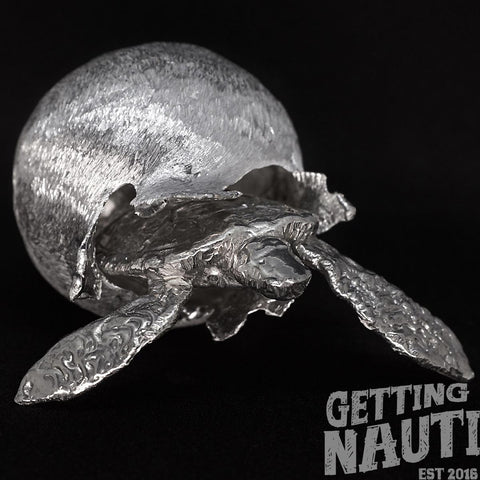 Custom pewter sea turtle