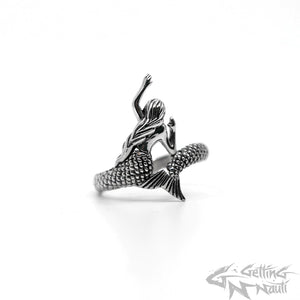 WYSIWYG - Custom Sterling Silver Mermaid Wraparound Ring - Size 10