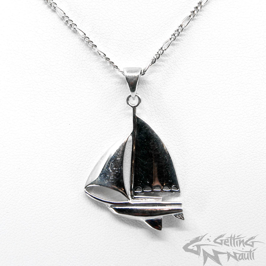 WYSIWYG - Custom Sterling Silver Sailboat Necklace