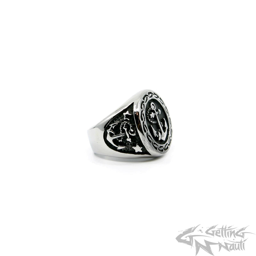 WYSIWYG - Men's Stainless Steel Anchor RIng - Size 11
