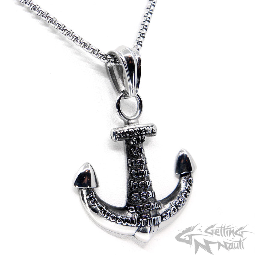 WYSIWYG - Christian Cross Anchor Pendant & Necklace
