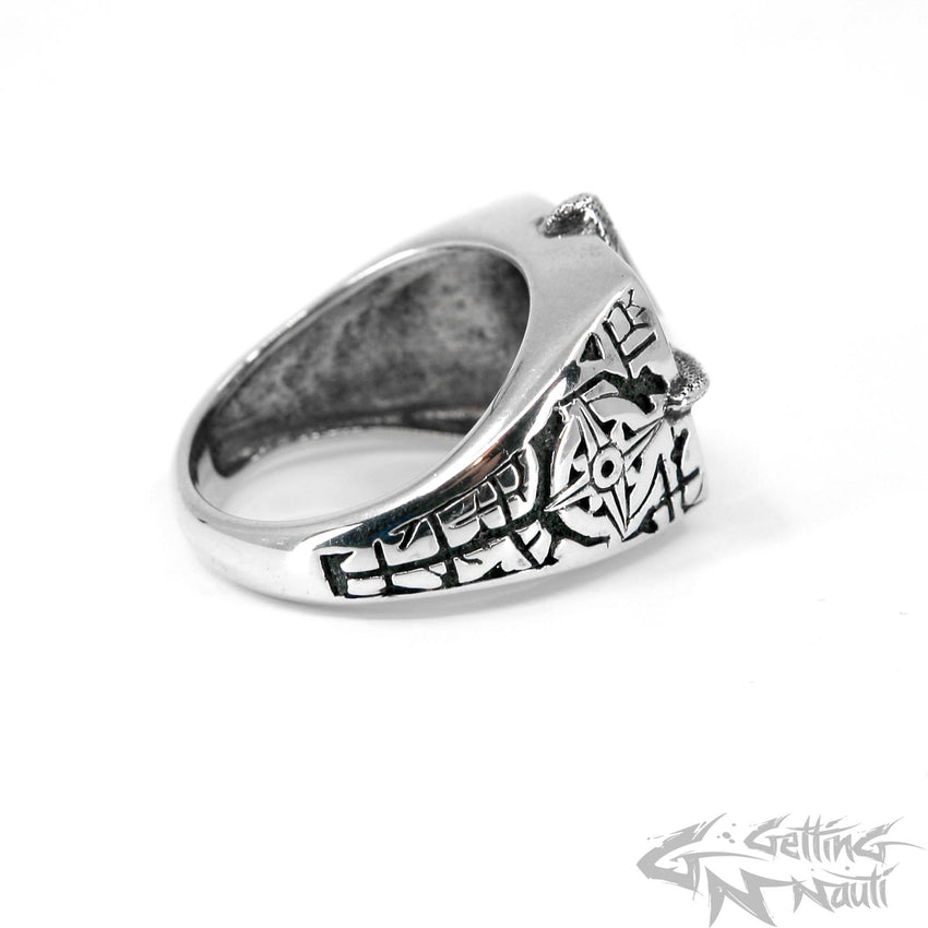 WYSIWYG - The Compass Rose - Custom Sterling Silver Ring (Small) - SIZE 10