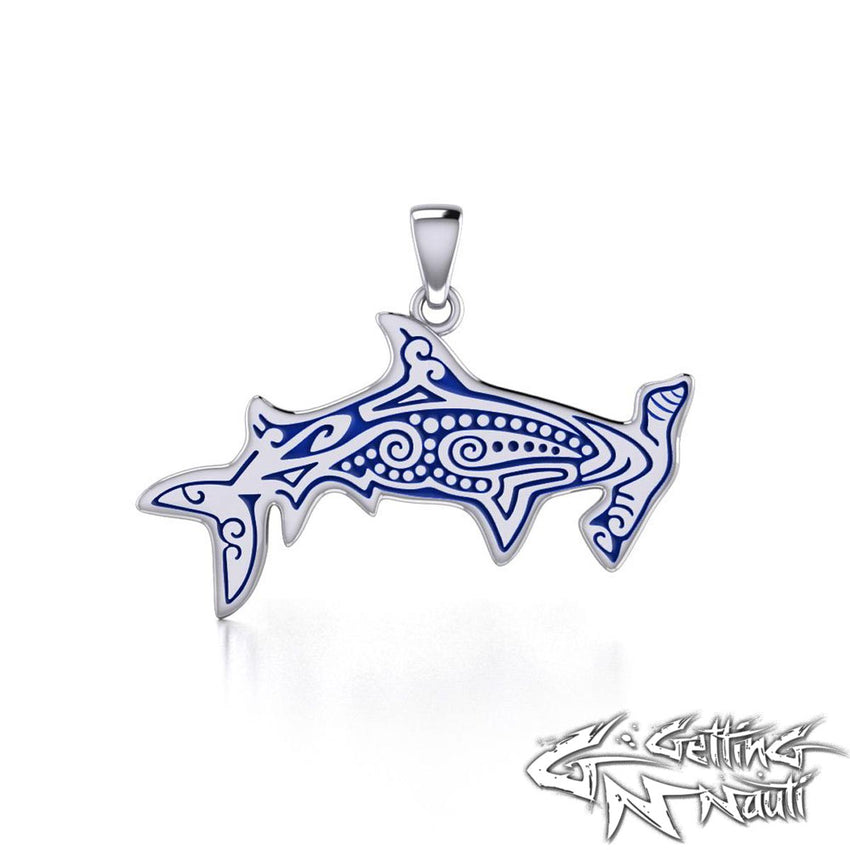 Custom Sterling Silver Aboriginal Hammerhead Necklace