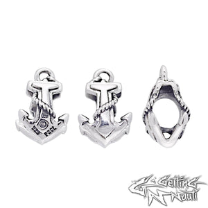 Custom Sterling Silver Charm - Anchor (Pandora Compatible)