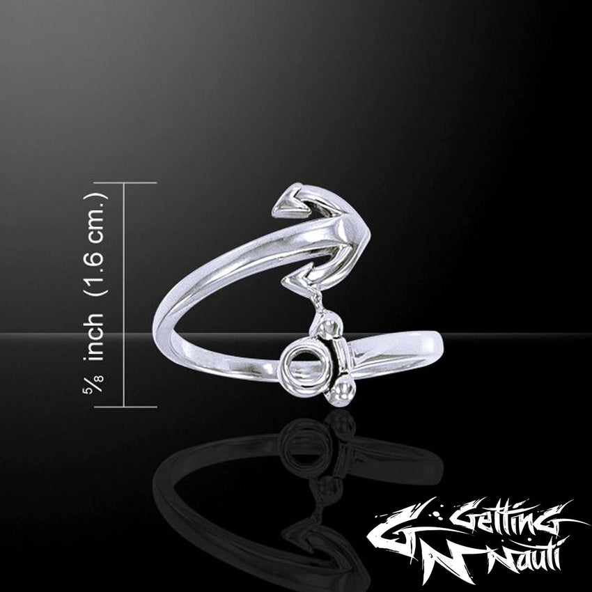 Custom Sterling Silver Wrapped Anchor Ring