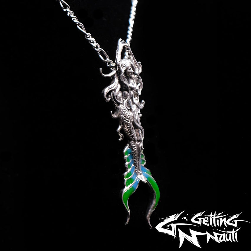 Custom Sterling Silver Necklace - Atlantis Mermaid