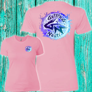 Blue Splash Ladies' Boyfriend T-Shirt