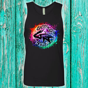 Color Burst Splash Men's Cotton Tank