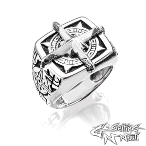 The Compass Rose - Custom Sterling Silver Ring (Small)