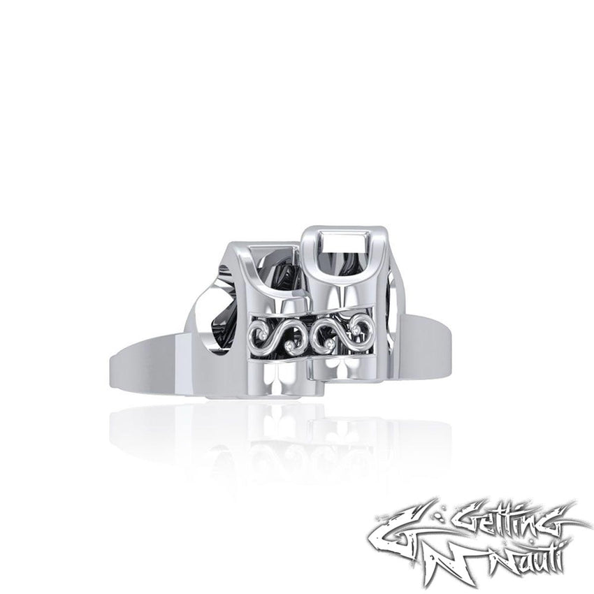 Custom Sterling Silver Dive Fins Bead Charm (Pandora Compatible)
