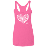Sealife Heart -  Ladies'  Racerback Tank