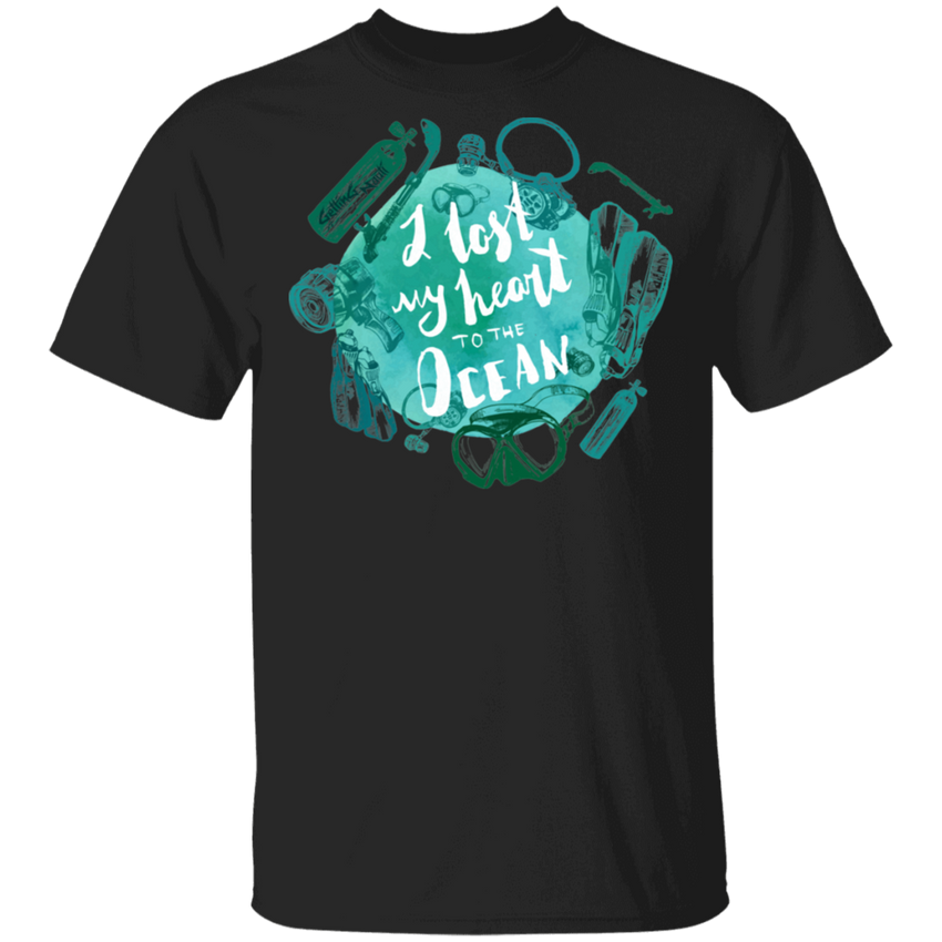 I Lost My Heart To The Ocean - Cotton T-Shirt