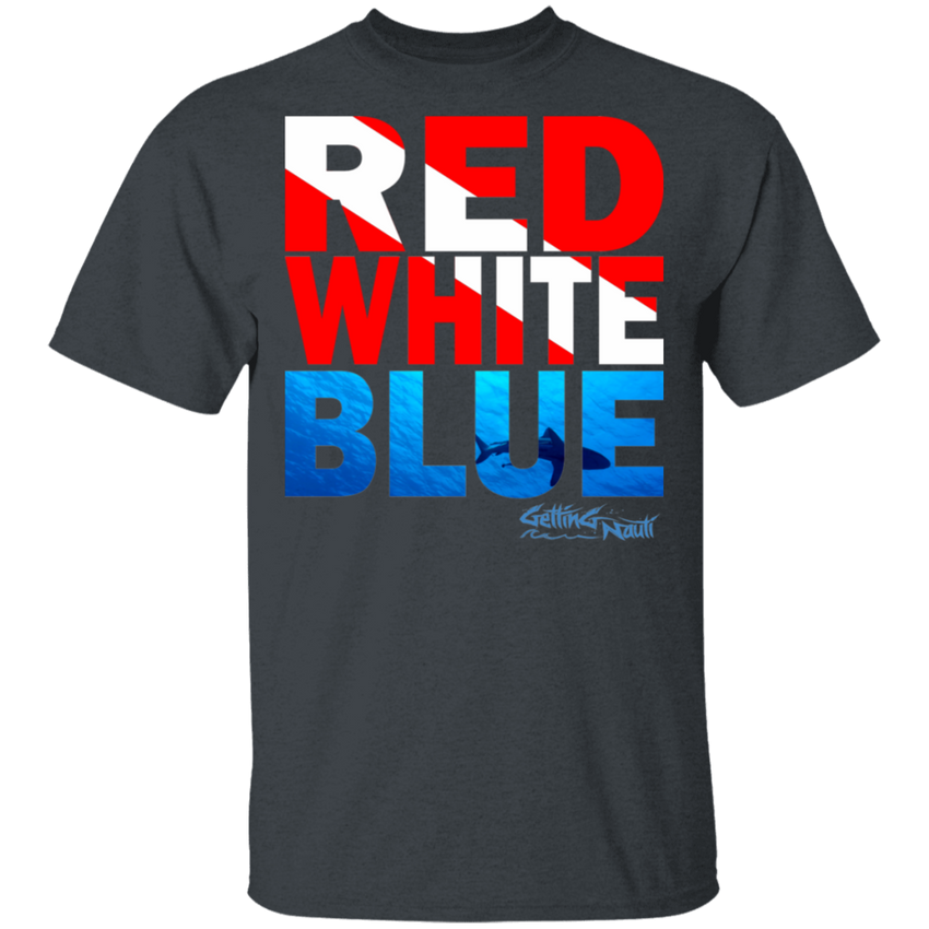 SCUBA Red, White, Blue - Cotton T-Shirt