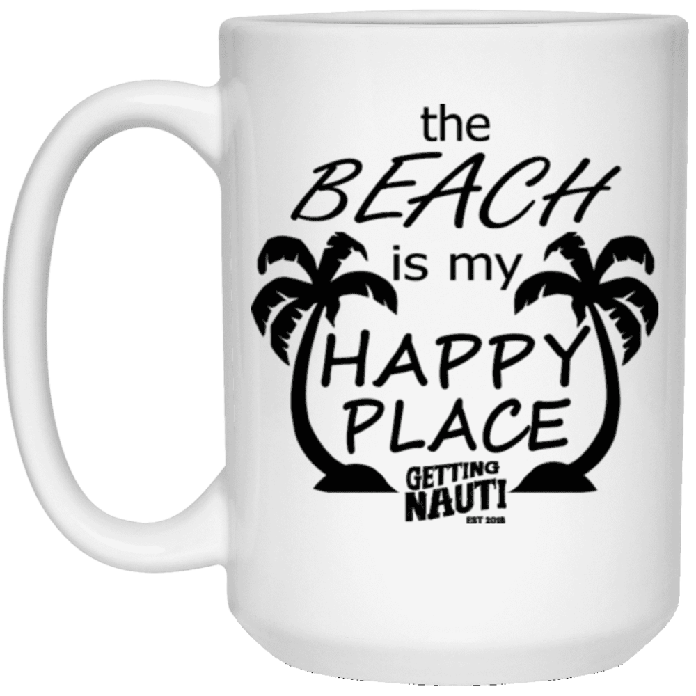 The Beach is My Happy Place - Mugs