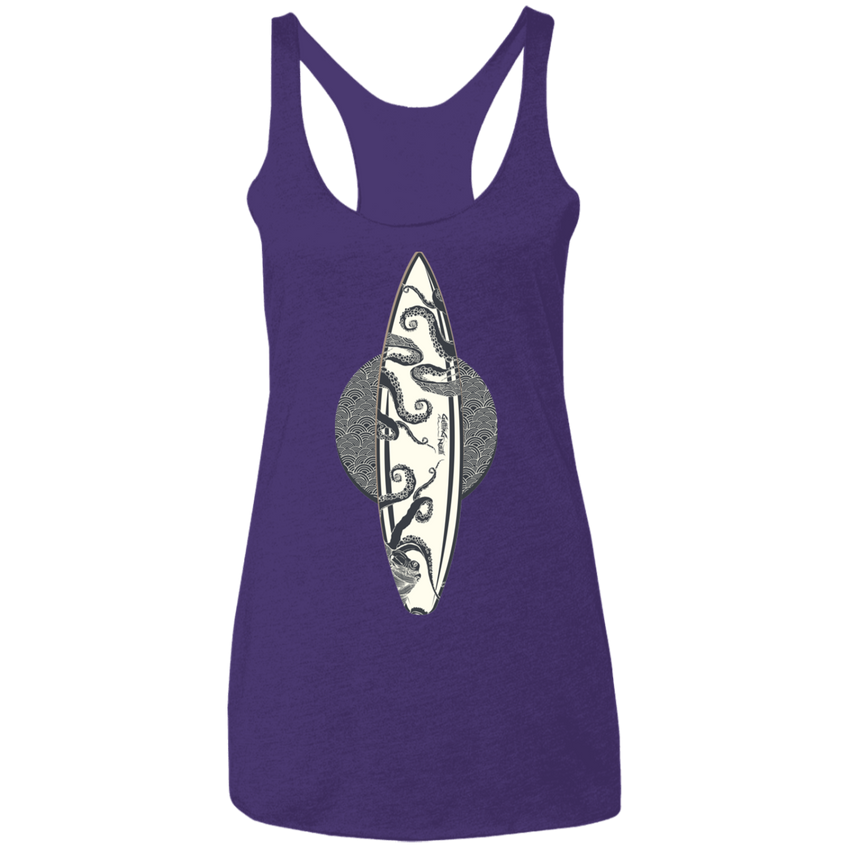 Octopus Surfboard -  Ladies'  Racerback Tank