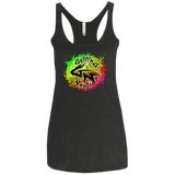 Watermelon Burst Splash Ladies' Triblend Racerback Tank