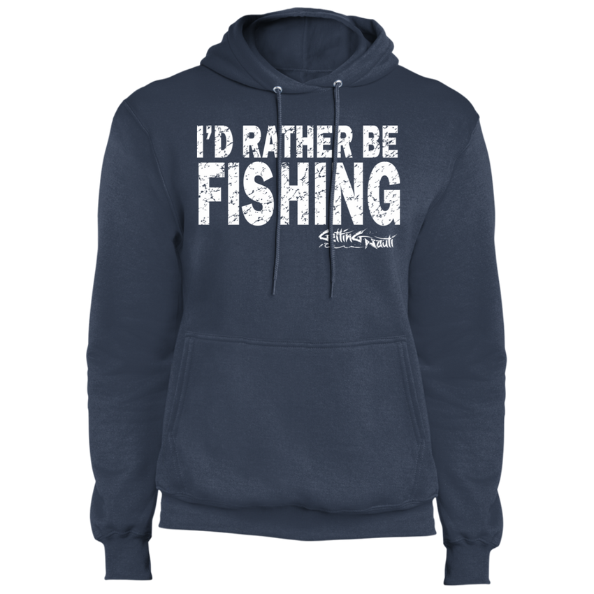 I'd Rather Be Fishing - Fleece Pullover Hoodie