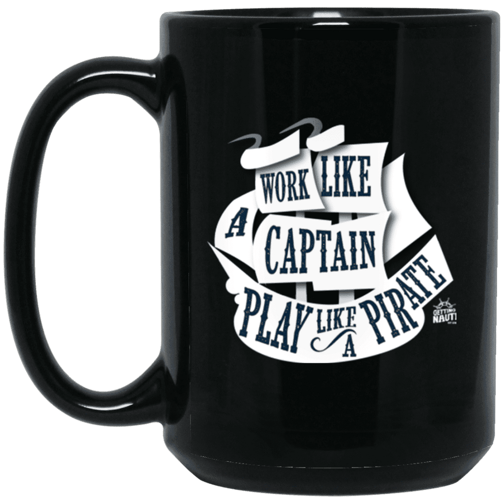 Play Like a Pirate - 15 oz. Black Mug