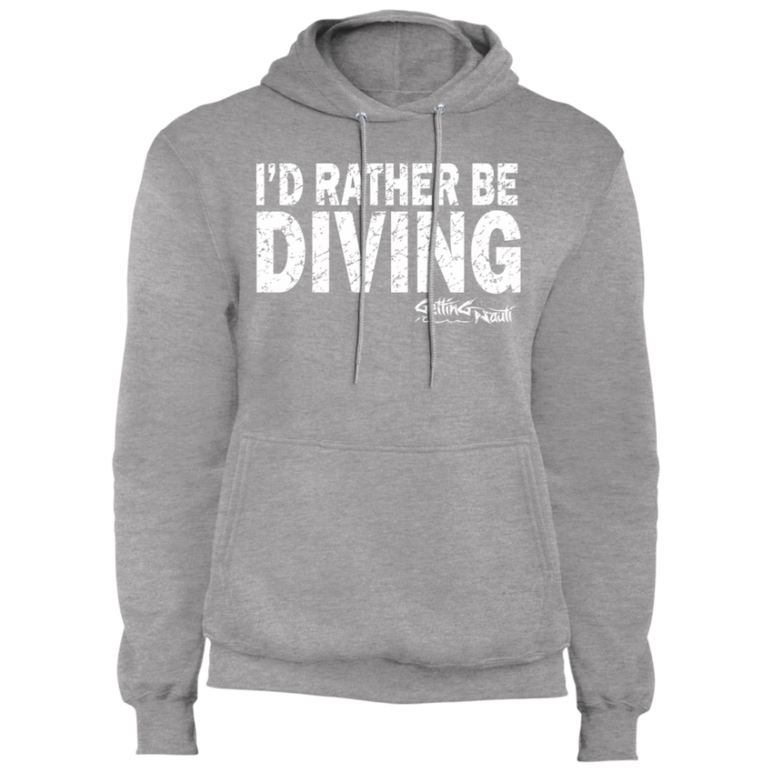 I'd Rather Be Diving - Fleece Pullover Hoodie