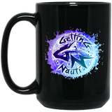 Splash Black Mugs