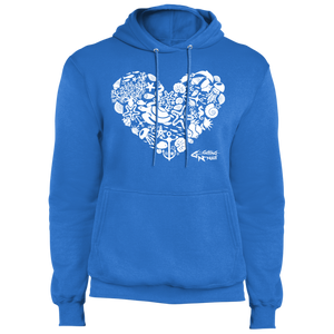Sealife Heart - Fleece Pullover Hoodie