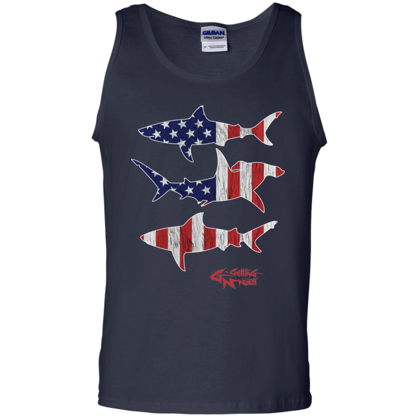 Patriot Sharks - Men's Cotton Tank Top