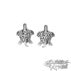 Custom Sterling Silver Aboriginal Sea Turtle Earrings