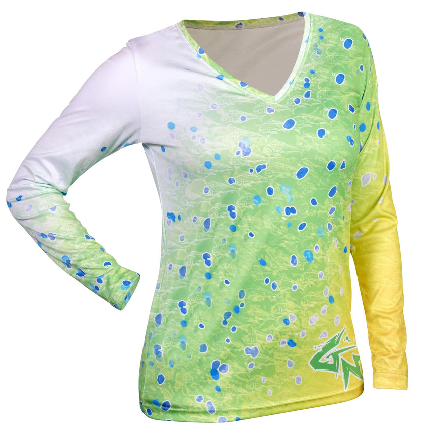 Women's Dorado Long Sleeve Performance V-Neck