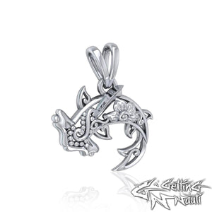 Custom Sterling Silver Hammerhead Shark Filigree Necklace