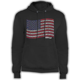 US Anchor Flag - Fleece Pullover Hoodie