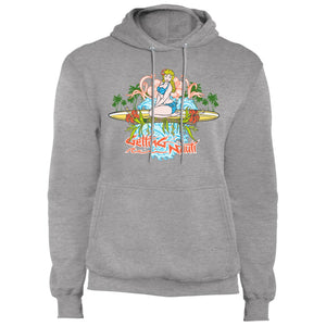 Surfer Girl - Fleece Pullover Hoodie