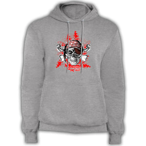 Pirate Skull & Crossbones - Fleece Pullover Hoodie