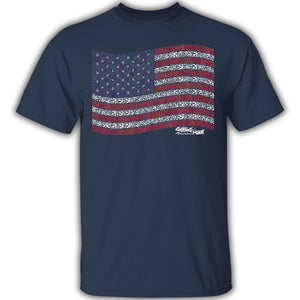 US Anchor Flag - Cotton T-Shirt
