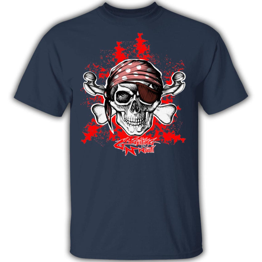 Pirate Skull & Crossbones - Cotton T-Shirt