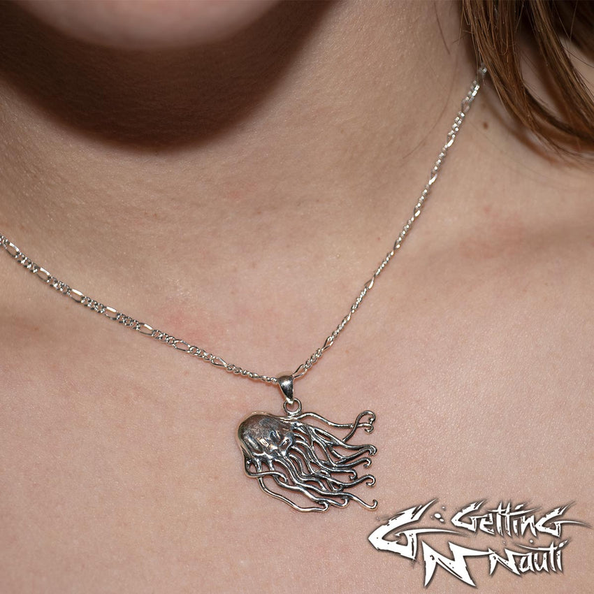 Custom Sterling Silver Necklace - Jellyfish
