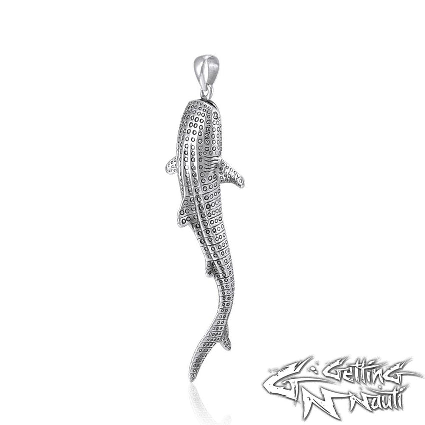 Custom Sterling Silver Whale Shark Necklace (Large)