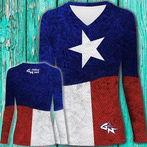 Women's Lone Star Long Sleeve Performance V-Neck