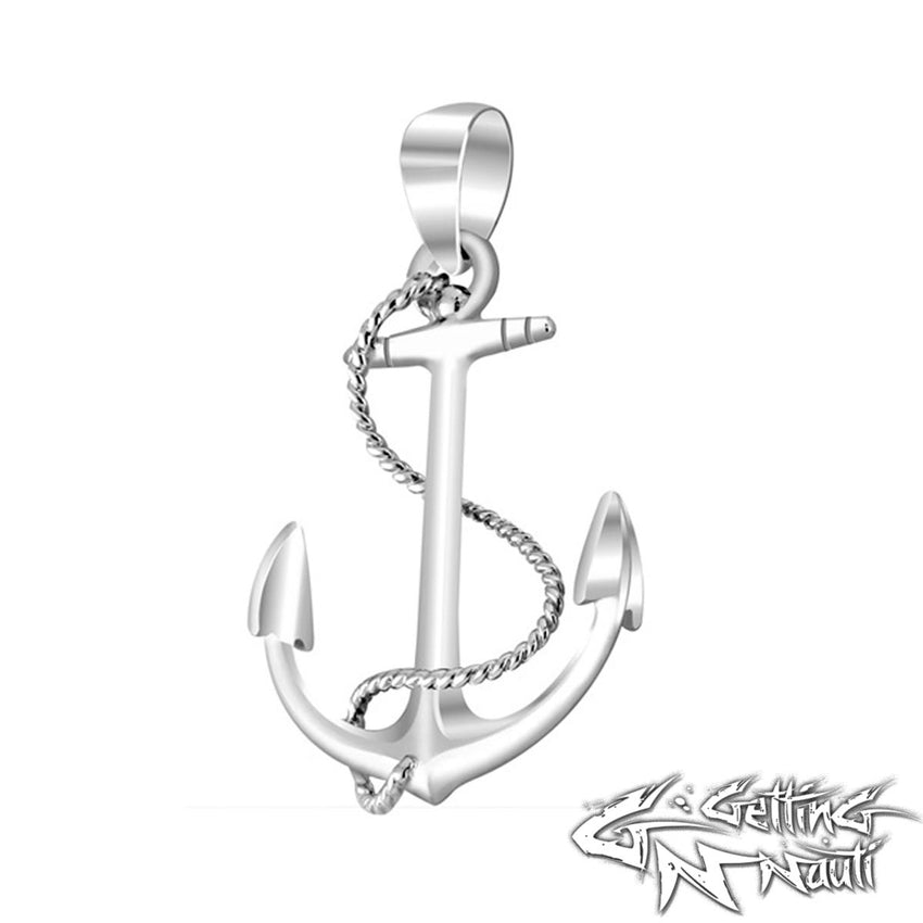 Custom Sterling Silver Necklace - Anchor & Rope