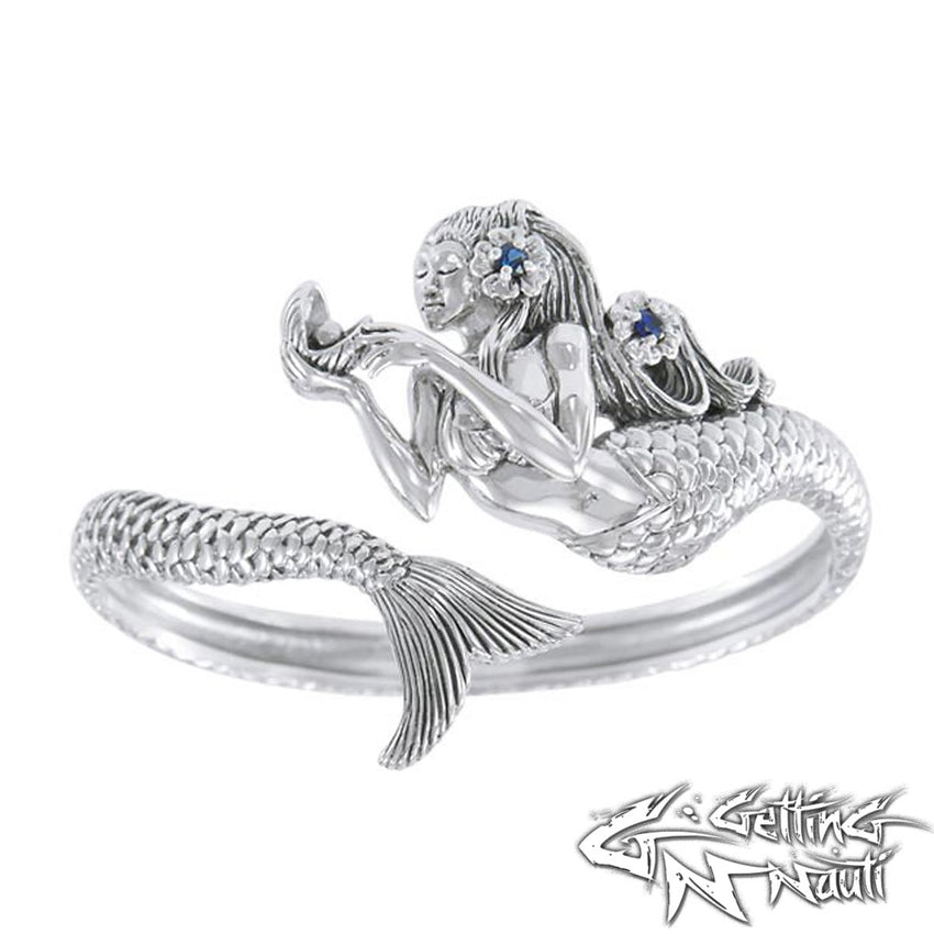 Sterling Silver Cuff Bracelet - Mermaid