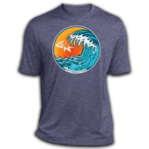 Retro Waves -  Dri-Fit Moisture-Wicking T-Shirt