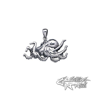 Custom Sterling Silver Pendant - Octopus 2